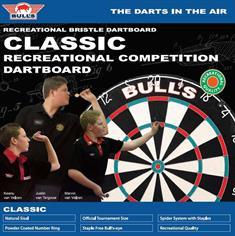 BULLS Classic Dartboard incl. Bristle Bracket