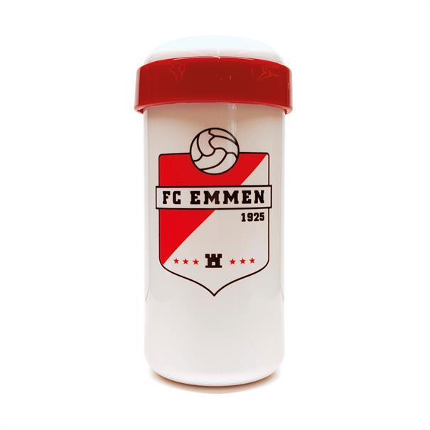 FC Emmen Lunchbeker wit/rood